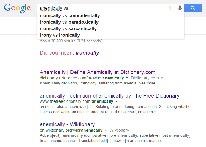 anemically